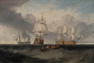 "The Victory Returning from Trafalgar, in Three Positions;The ""Victory"" returning from Trafalgar;The Victory returning from Trafalgar, ca. 1806."
