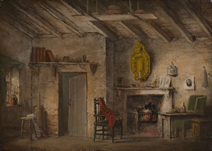 Stage Design for Heart of Midlothian; Deans' Cottage, ca. 1819. Written by Sir Walter Scott