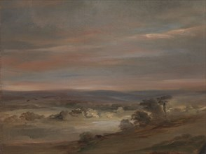 A View on Hampstead Heath, Early Morning;A View on Hampstead Heath, Early Morning (?);Hampstead Heath, Morning, ca. 1821.
