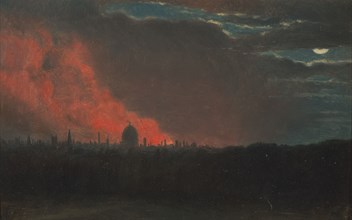Fire in London, Seen from Hampstead;The Burning of the Houses of Parliament;Fire at the House of Parliament, Oct. 16, 1834, as seen from Hampstead;Fire in London, from Hampstead, ca. 1826.