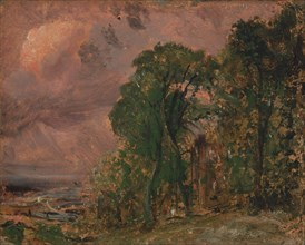 A View at Hampstead with Stormy Weather;Hampstead after a Thunder Storm;Hampstead in a Storm;Hampstead after a Thunderstorm, ca. 1830.
