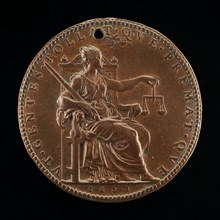 Justice with Sword and Scales [reverse], 1623.