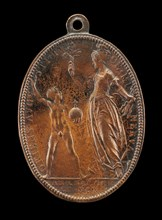 Young Louis and Minerva [reverse], 1610. Louis XIII King of France from 1610 to 1643