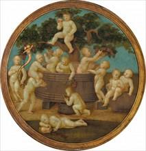 Putti with a Wine Press, c. 1500.