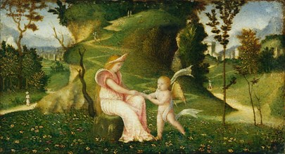 Venus and Cupid in a Landscape, c. 1505/1515.