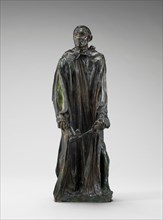 A Burgher of Calais (Jean d'Aire), model 1884-1889, reduction cast probably 1895.