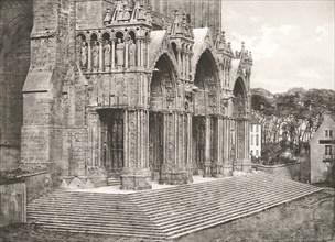 Cathédrale de Chartres - Portique du Midi XIIe Siècle, c. 1854, printed c. 1857. (Portico du Midi 12th Century)