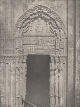 Cathedrale de Chartres, Côté Occidental, Porte Latérale de Droite, XIIe Siècle (Chartres Cathedral, West Side, Right Side Door, XII Century), c. 1857.