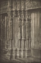 Chartres Cathedral. Right Door of the Royal Portal, West Side, XII Century, before July 1857.