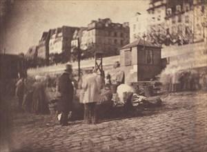 Scène de Marché au Port de l'Hôtel de Ville, Paris (Market Scene at the Port of the Hôtel de Ville, Paris), before February 1852.