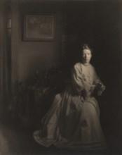 Mrs. White - In the Studio, 1907, printed c. 1920s.