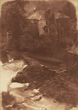 Colinton Manse and weir, with part of the old mill on the right, 1846.