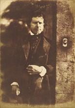 David Octavius Hill at the gate of Rock House, Edinburgh, 1843-1847.