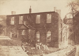 Lady Glenorchy's Chapel during demolition, on the site of Waverley Station, c. 1846.