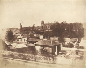 Linlithgow, from the railway station, with the Town Hall, St. Michael's Church, and Palace, 1843-1847.