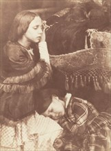 The Three Sleepers: Sophia Finlay, Harriet Farnie and Brownie, c. 1845.