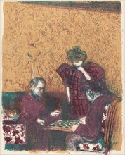 Game of Checkers (La partie de dames), 1897/1898 (published 1899).