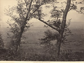 """Orchard Knob from Mission Ridge, 1864-1866. strategic lookout used by General Grant during the """"Battle Above The Clouds""""."""