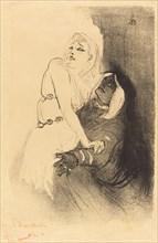 "At the Renaissance: Sarah Bernhardt in ""Phedre"" (A la Renaissance: Sarah Bernhardt dans ""Phèdre""), 1893."