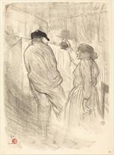 """At the Theatre-Libre: Antoine in """"L'inquiétude"""" (Au Théatre-Libre: Antoine dans """"L'inquiétude""""), 1894."""