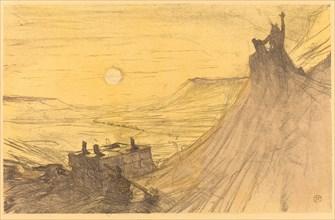 """Cover for """"Au pied du Sinaï"""", 1898."""