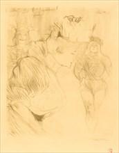 Lender Bowing (Lender saluant), 1895.