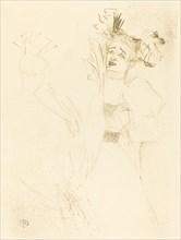"""Lender Full Face in """"Chilperic"""" (Lender de face dans """"Chilpéric""""), 1895."""