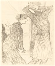 """Lugne Poe and Baldy in """"Au-dessus des forces humaines"""" (Lugne Poe et Baldy dans """"Au-desses des forces humaines""""), 1894."""