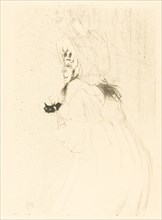 May Belfort Bowing (Miss May Belfort saluant), 1895.