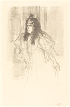 Miss May Belfort Bare-Headed (Miss May Belfort en cheveux), 1895.