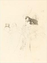 Miss May Belfort in the Irish and American Bar, rue Royale (Miss Belfort Belfort au Irish and American Bar, Rue Royale), 1895.