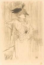 Mlle. Marcelle Lender, Standing (Mlle. Marcelle Lender, debout), 1895.