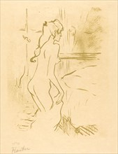 Study of a Woman (Etude de femme), 1893. Observations of daily life inside a Parisian brothel where Lautrec resided.
