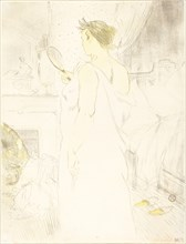 Woman at the Mirror (Femme à glace), 1896. Observations of daily life inside a Parisian brothel where Lautrec resided.