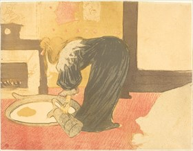 Woman at the Tub (Femme au tub), 1896. Observations of daily life inside a Parisian brothel where Lautrec resided.