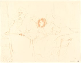 Woman with a Tray (Femme au plateau), 1896. Observations of daily life inside a Parisian brothel where Lautrec resided.