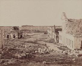 Courtyard with Domed Building in Ruins, 1855-1856.