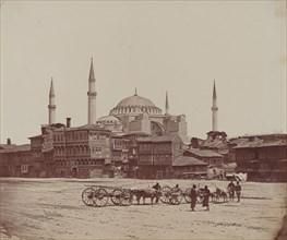 Hagia Sophia from Place l'Hippodrome, 1857.
