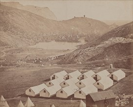 Hutted Camp with Balaclava Harbor in Distance, 1855-1856.
