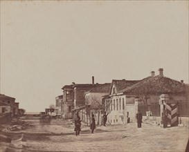 View of Street with Soldiers, 1855-1856.