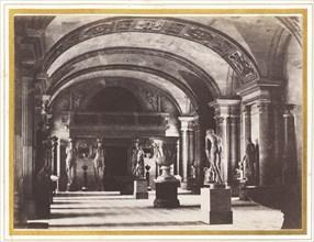 Salle des Cariatides, au Musée du Louvre, c. 1851.