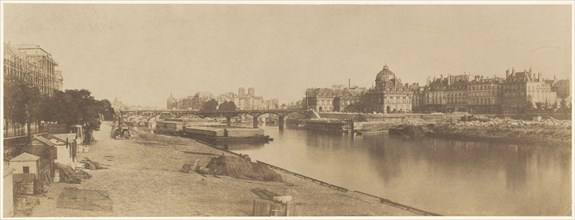 The Seine from the Pont du Carrousel Looking towards Notre Dame, 1853.