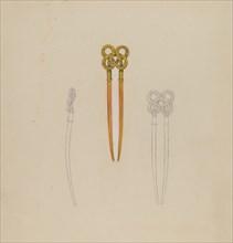 Amber Hairpin, 1935/1942.