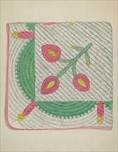Applique Quilt, c. 1936.