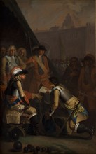 Magnus Stenbock Surrenders the Fortress of Tønning to Frederick IV in 1714, 1785. Found in the collection of Statens Museum for Kunst, Copenhagen.