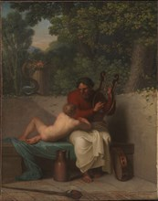 The Greek Poet Anacreon and Bathyll, 1808. Found in the collection of Statens Museum for Kunst, Copenhagen.