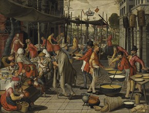 The Parable of the Wedding Feast. Private Collection.