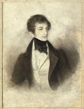 Portrait of the pianist and composer Sigismund Thalberg (1812-1871) , 1829. Found in the collection of Vienna Museum.
