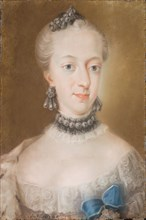 Portrait of Juliane Marie (1729-1796), Queen of Denmark and Norway, Mid of the 18th cen. Found in the collection of Statens Museum for Kunst, Copenhagen.