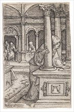 Virgin Mary searching for the twelve-year-old Jesus in the Temple, c. 1519. Private Collection.